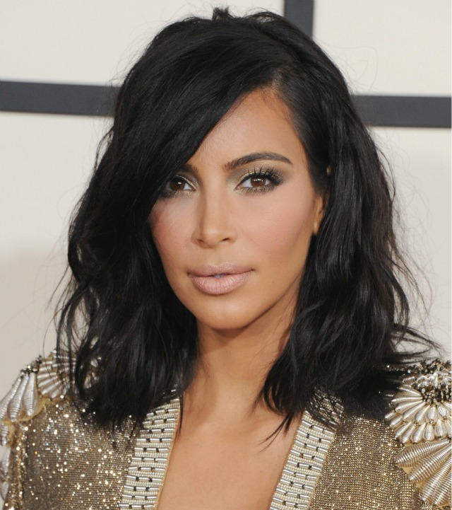 Kim-Kardashian-2015-Grammy-Awards-makeup-hair